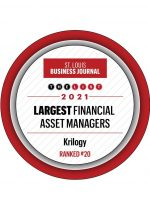 St. Louis Business Journal Largest Financial Asset Managers Badge for Krilogy