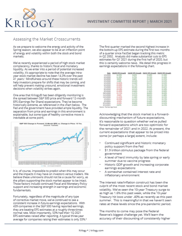 March 2021 Krilogy Investment Committee Report
